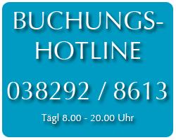 Buchungshotline Ostsee 038292/8613align=
